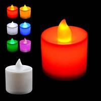Свеча декоративная, красная, в комплекте с батарейками.