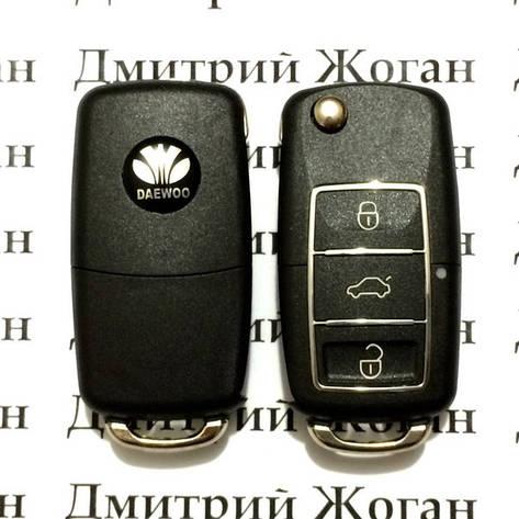 Корпус выкидного ключа для Daewoo Leganza, Matiz, Lanos (Дэу Ланос, Леганза, Матиз) 3 - кнопки, фото 2