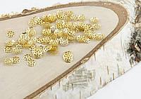 Обниматель под золото Цветочек 7 мм 5 грамм прибл.200 шт.(товар при заказе от 500грн)