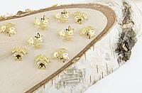 Обниматель под золото 13 мм 10 штук(товар при заказе от 500грн)