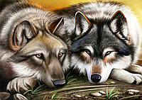 """Схема для вышивки бисером волки """"Верность"""""""