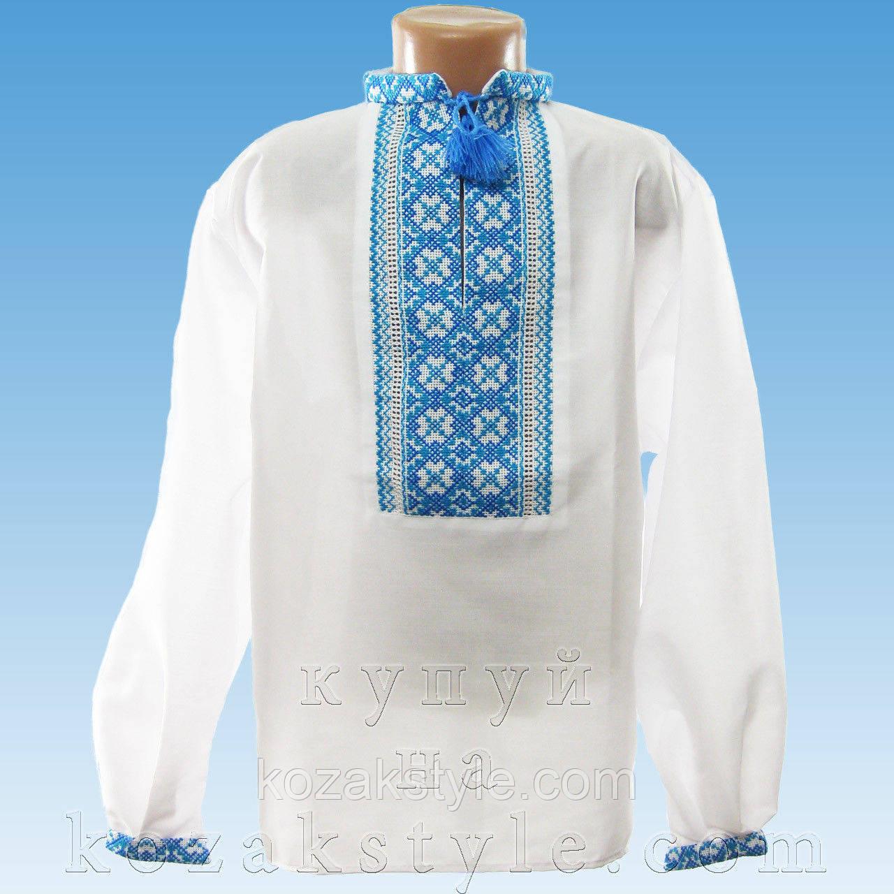 (Вишиванка ручної Костюм український для хлопчика синій ( від 5 по 8 років). e98f2f98f8052