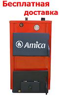 Котлы на твердом топливе Amiсa Optima 18П кВт с плитой традиционного горения (сталь 3 мм)