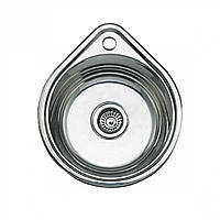 Мойка кухонная 0,8мм нержавейка с комплектом ULA-500*440 врезная (Decor-Ребристая) (HB 4450 ZS)