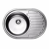 Мойка кухонная 0,8мм нержавейка с комплектом ULA-570*450  врезная (Satin-Матовая) (HB 7112 ZS (L/R))