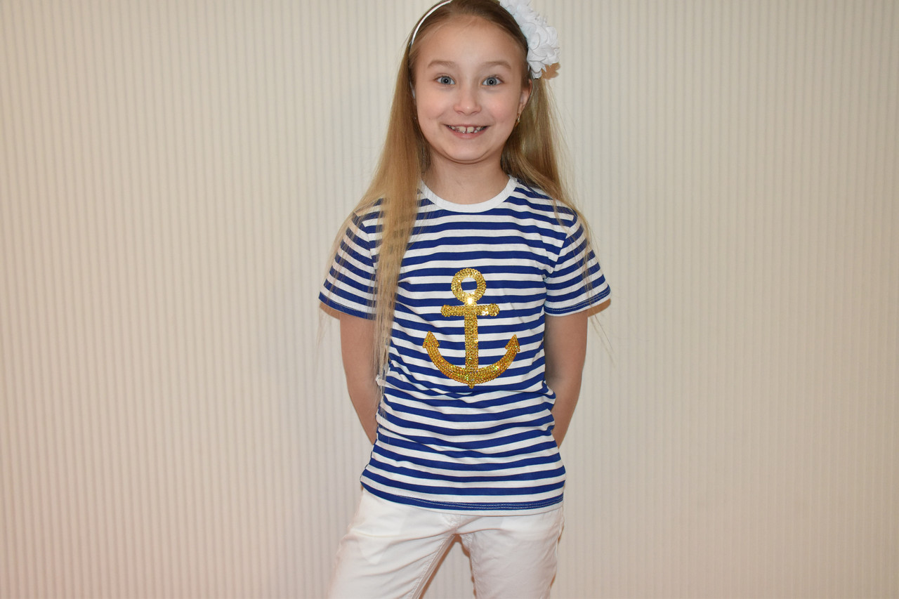 Футболка морячка для девочки