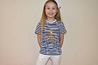 Футболка морячка для девочки, фото 1