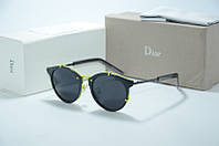 Солнцезащитные очки Dior Home черные с желтым, фото 1