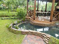 Плавательные пруды, водоёмы (Эко пруды с очисткой воды растениями)