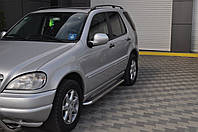 Mercedes ML klass W163 Боковые площадки Premium (2 шт., нерж.) d42