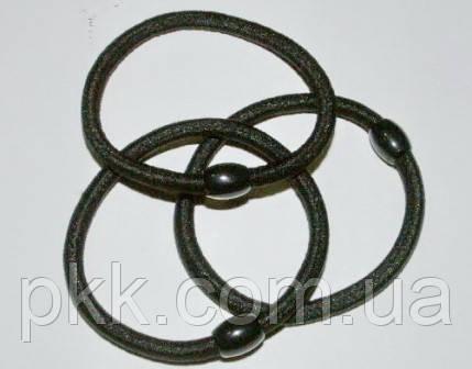 Резинка  чорна з бусинкою R-100-8