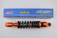 """Амортизатор для скутера   GY6, DIO, TACT   270mm, тюнинговый   """"NDT""""   (оранжево-черный)"""