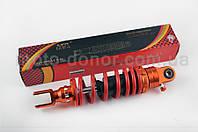 """Амортизатор для скутера   GY6, DIO, TACT   270mm, тюнинговый, с подкачкой   """"NDT""""   (оранжево-красный)"""