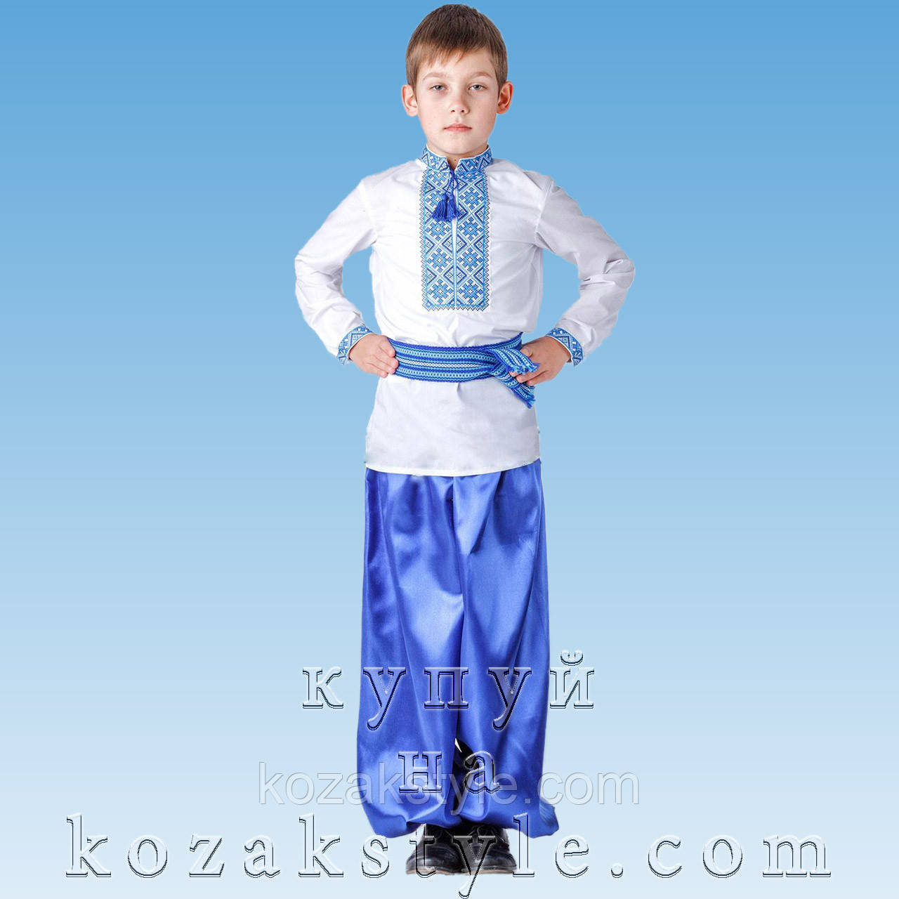 Костюм український для хлопчика синій ( від 9 по 12 років)  продажа ... 13681b0751522