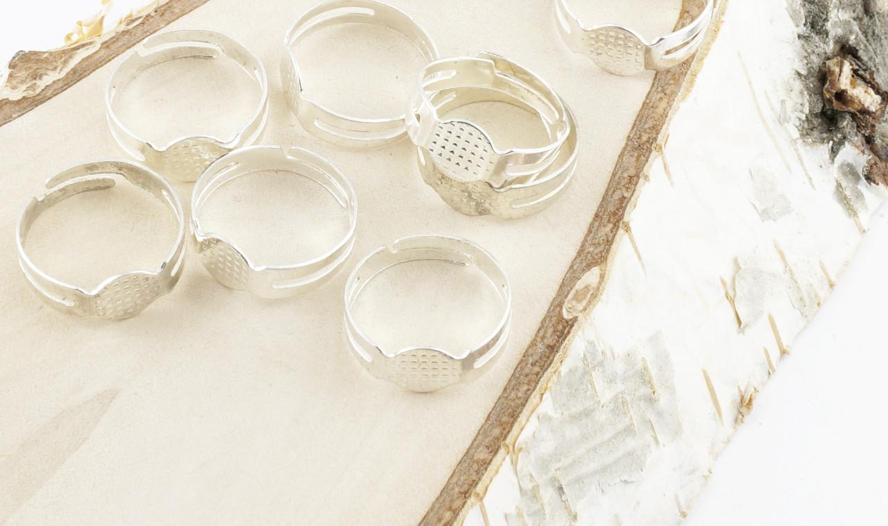 Основа под кольцо серебро 5 штук (товар при заказе от 200 грн) - магазин-студия Цацки в Чернигове