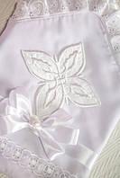 Красивая пеленка на крестины с оригинальным оформлением