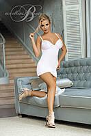 Красивая белая сорочка с кружевными вставками Excellent beauty V-508