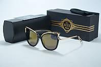 Очки Dita Von Teese черные с золотом, фото 1
