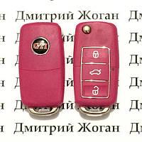 Корпус выкидного автоключа для VOLKSWAGEN Golf GTI (Фольксваген) 3 - кнопки,лезвие HU66,HU49