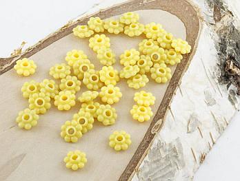Разделитель желтый цветочек 8 мм 20 штук