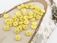 Разделитель желтый цветочек 8 мм (20 штук)
