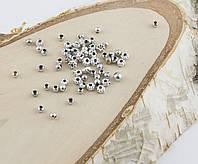 Разделитель под серебро бусинка-цветочек маленькая 10 грамм (товар при заказе от 200 грн)