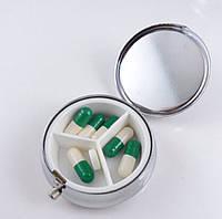 Таблетница металлическая  для таблеток и капсул