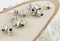Разделитель под серебро с подвеской для кулона 10 мм 5 штук (товар при заказе от 200 грн)