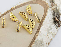 Разделитель на три нитки золото 17 мм (товар при заказе от 200 грн)