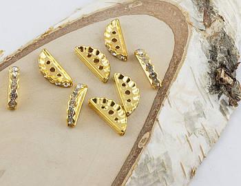 Разделитель на три нитки золото 17 мм
