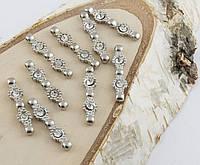 Разделитель на три нитки серебро 30 мм (товар при заказе от 200 грн)