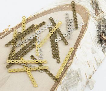 Разделитель на 7-10 ниток золото 35 мм