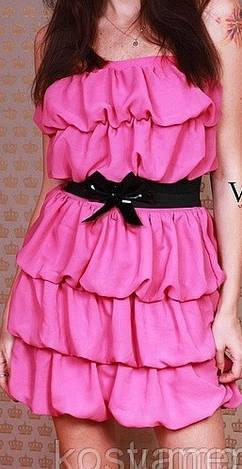 Шифоновое коктельное платье ш1