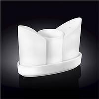 Набор соль+перец, зубочистки,подставка Wilmax WL-996117 4предмета