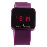 Led сенсорные наручные часы/сиреневые
