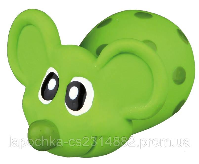 Игрушка для собак Trixie Мышь с пищалкой, латекс 8 см (цвета в ассортименте)