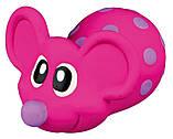Игрушка для собак Trixie Мышь с пищалкой, латекс 8 см (цвета в ассортименте), фото 4