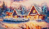 Набор для вышивания бисером FLF-103 Зимняя сказка 30*50 Волшебная страна качественный