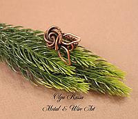 Женское кольцо металлическое (медное) плетеное «Роза» - Украшение на руку