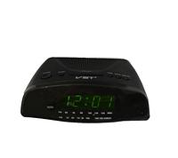 Часы сетевые 905-2 зеленые, радио FM