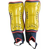 Щитки футбольные с голеностопом №2015, детские, разн. цвета, фото 1