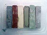 Паста полировальная, универсальная, твердая для любых материалов 250 гр.Набор 6 шт.