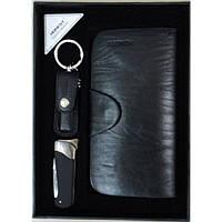 Подарочный набор зажигалка-нож/брелок-кусачки/портмоне (3050)