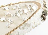 Основа клипса серебро 16 мм