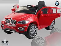 Детский электромобиль джип BMW X6 красный T-791