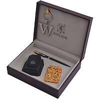 Подарочный набор (4в1) - зажигалка/брелок/ручка/чехол (ZL-1)