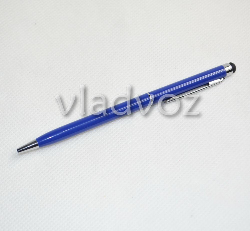 Стилус ёмкостный синий ручка 2в1 stc-p102