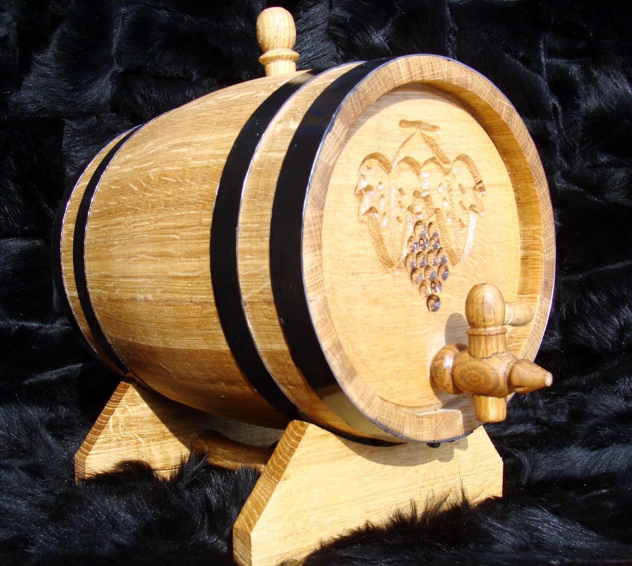 Дубовая бочка 5л для вина, коньяка, виски, рома