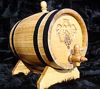 Дубовая бочка 5л для вина, коньяка, виски, рома, фото 1