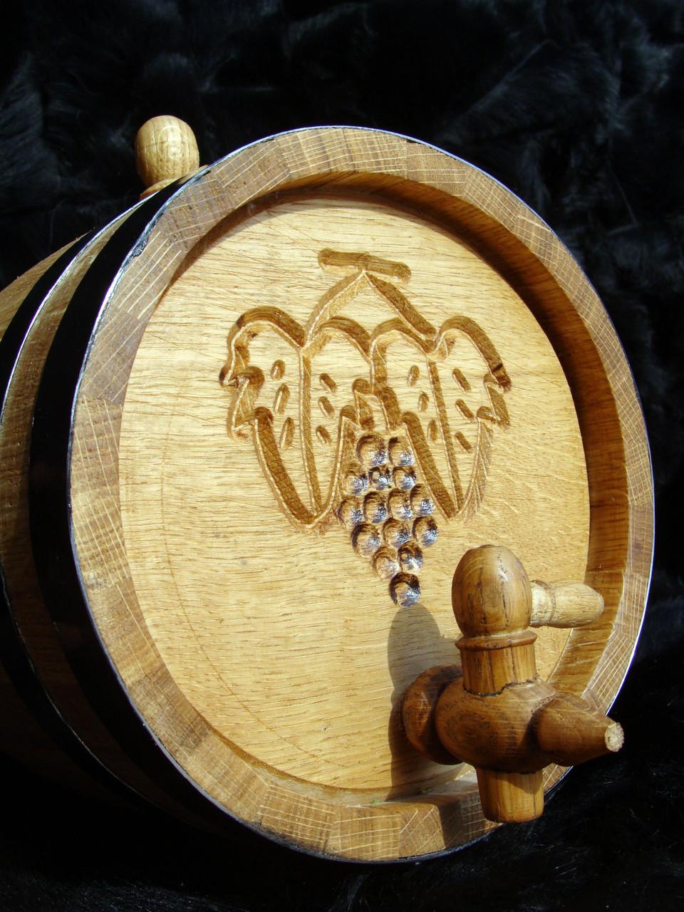 Дубовая бочка 15л для вина, коньяка, виски, рома